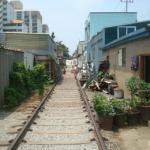 街中の線路
